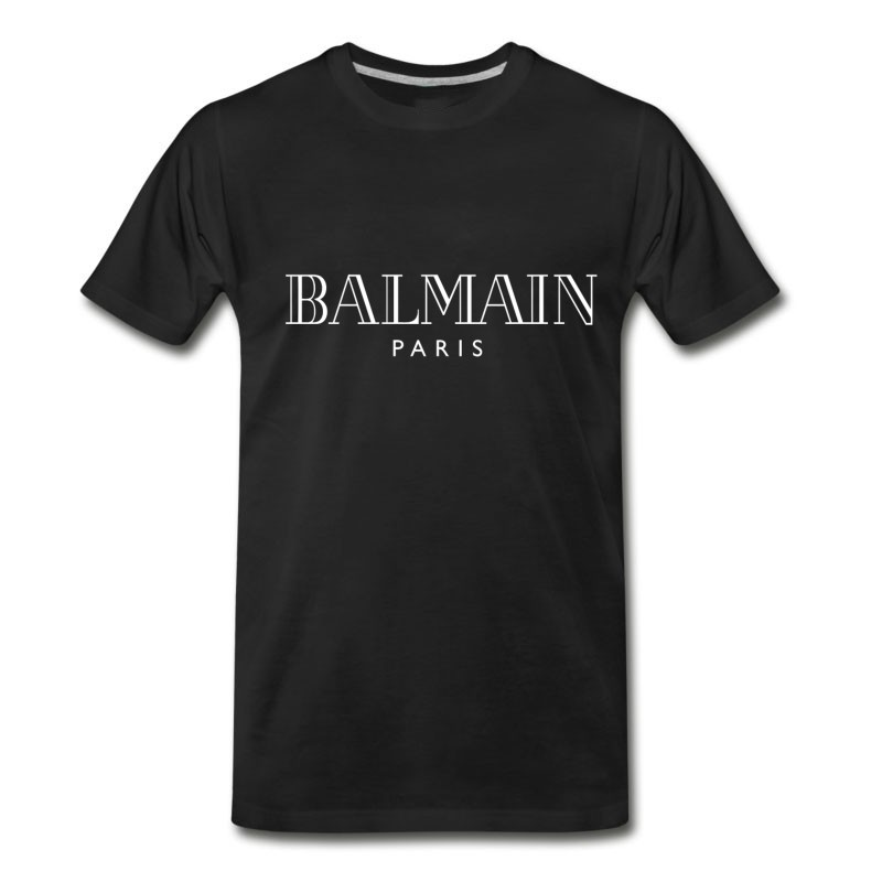 Men's Balmain White Logo Paris T-Shirt