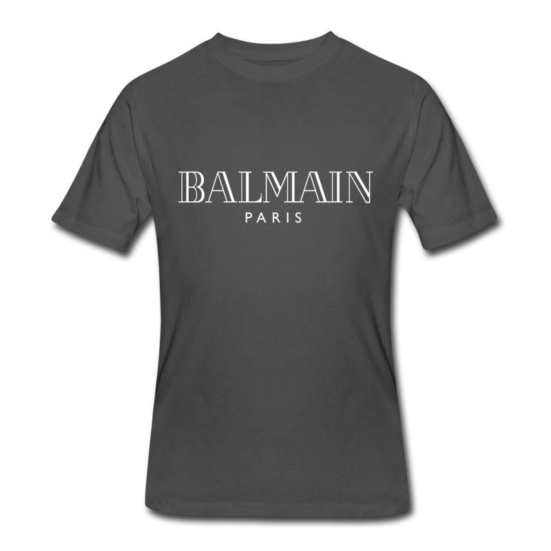 Men's Balmain White Logo Paris T-Shirt