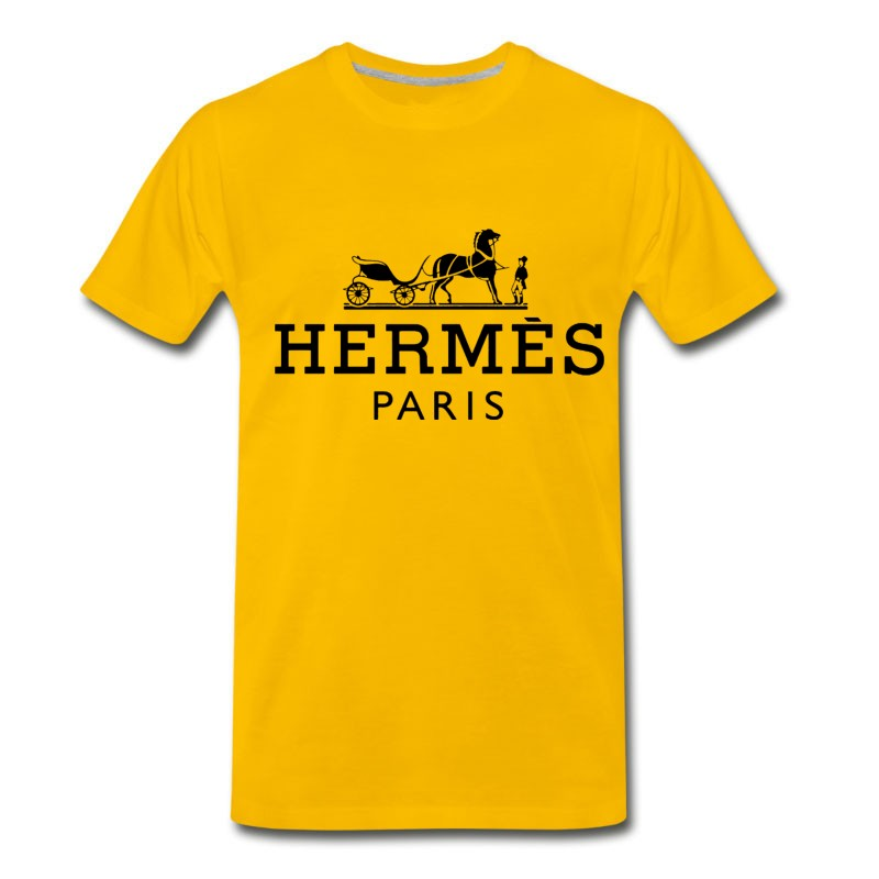 Men's Hermes Paris Black T-Shirt