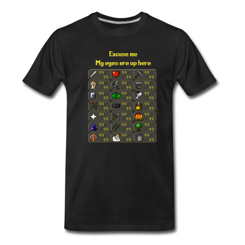 Men's Runescape My Eyes Are Up Here T-Shirt
